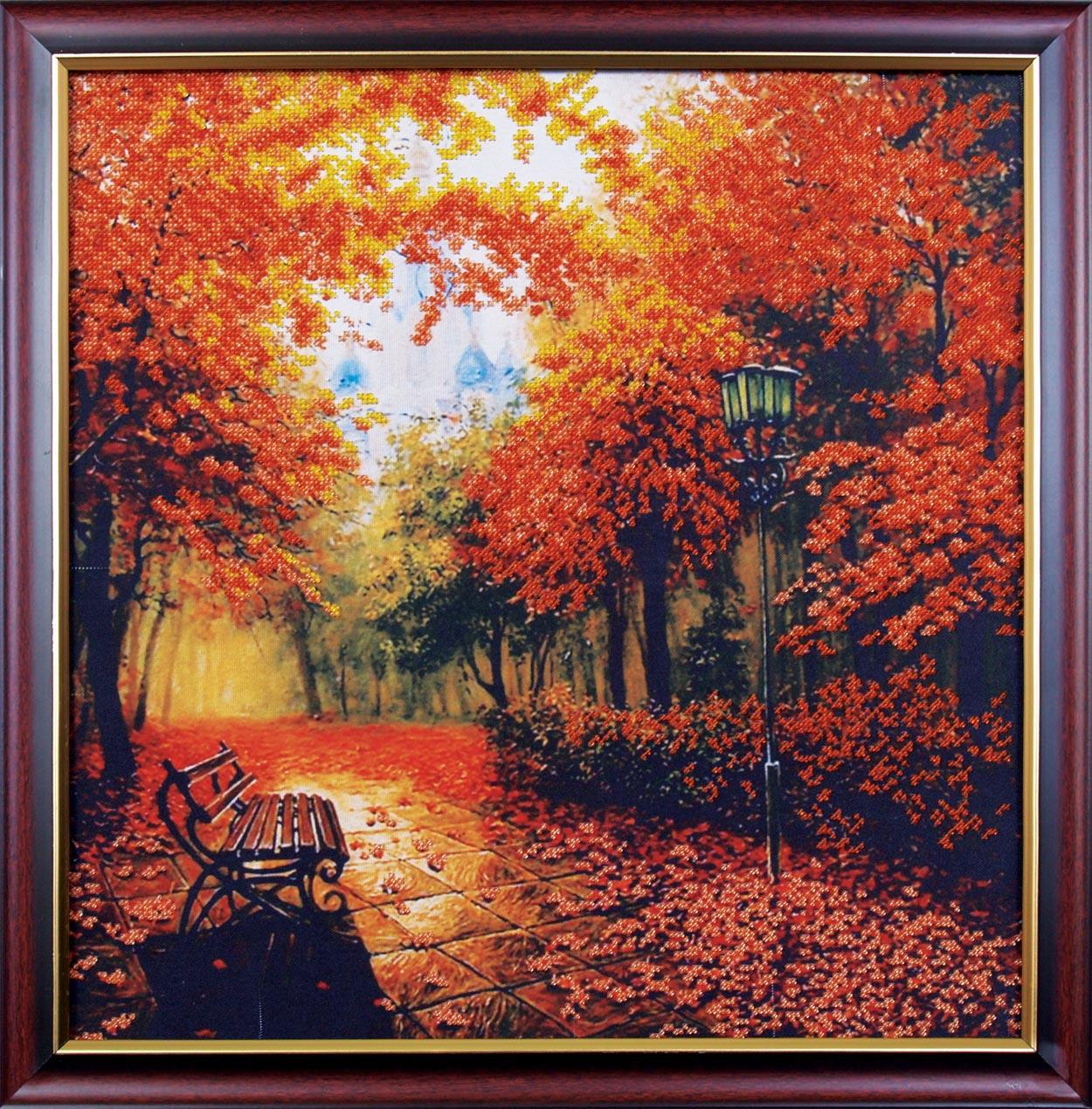 """Набор для вышивания бисером арт.МК- Б010 """"Осенний парк"""" 39x40 см. Откроется в новой вкладке."""